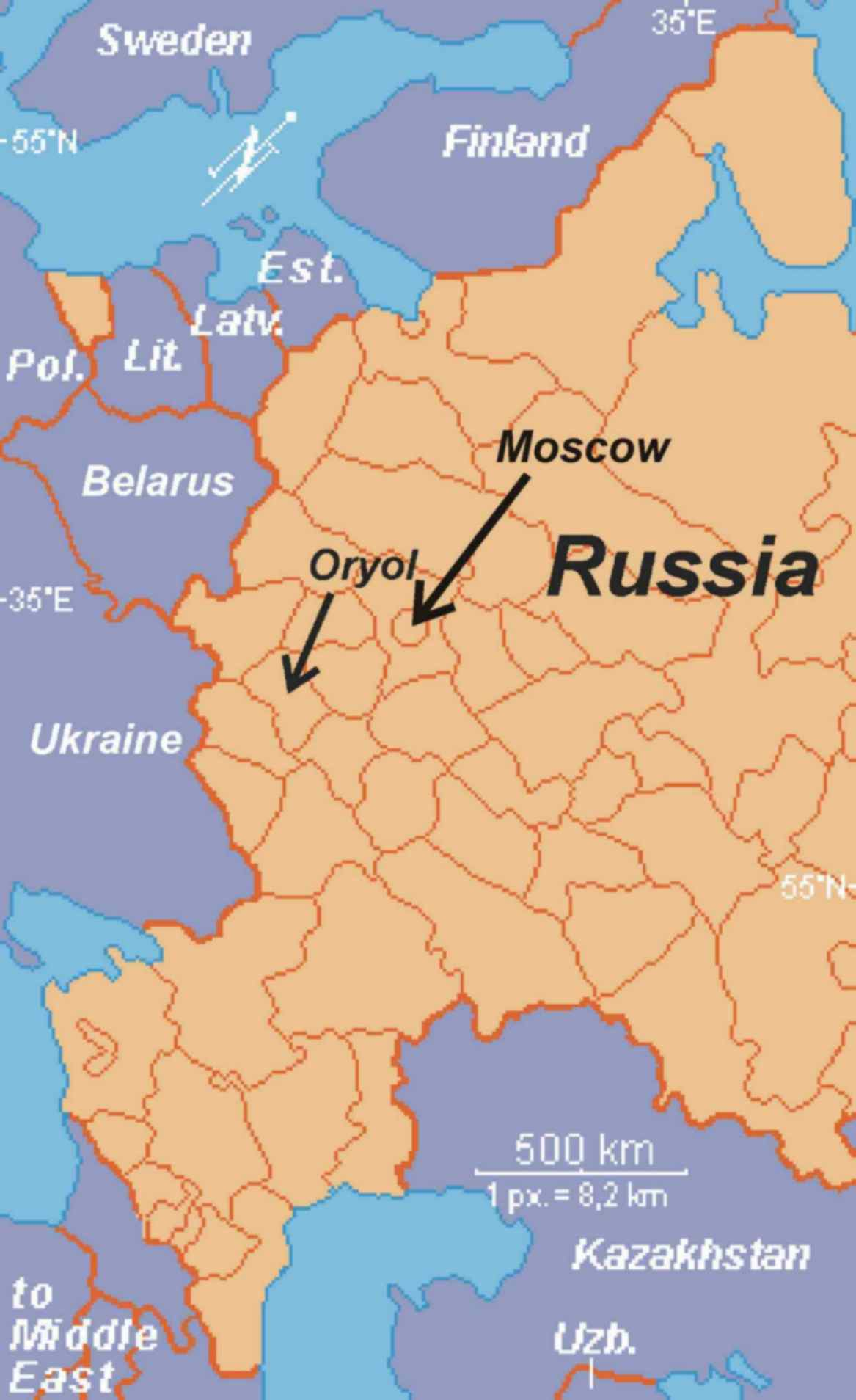 Oryol Maps & Facts :: Don and Ruth Ossewaarde - Missionaries to Russia